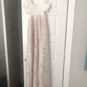 BCBG Dresses - BCBG White Cut Out Dress Size 0